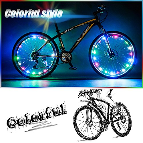 Bodyguard-Bike-Wheel-Lights-Auto-Open-and-Close-Ultra-Bright-LED-Bicycle-Wheel-Spoke-Light-String-1-pack-Colorful-Bicycle-Tire-Accessories-Waterproof