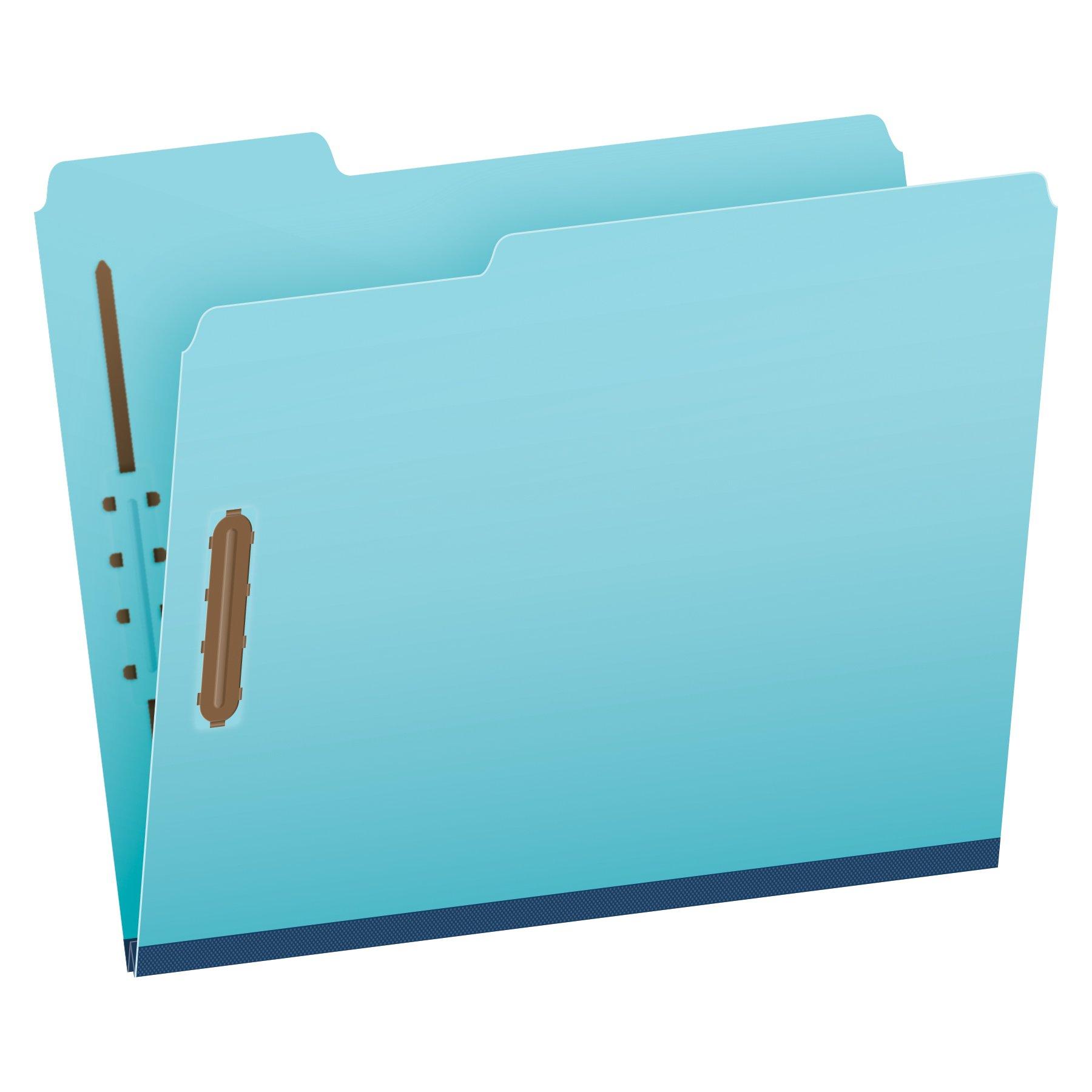 Pendaflex Pressboard Fastener Folders, Letter Size, Light Blue, 1'' Expansion, 1/3 Cut, 25/BX (615F21-3BLU) by Globe Weis
