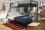 loft bedroom ideas Bunk Beds for Kids Twin Over Full Boys Metal Ladder Bedroom Furniture Dorm College Home Children Space Saver Sleeper