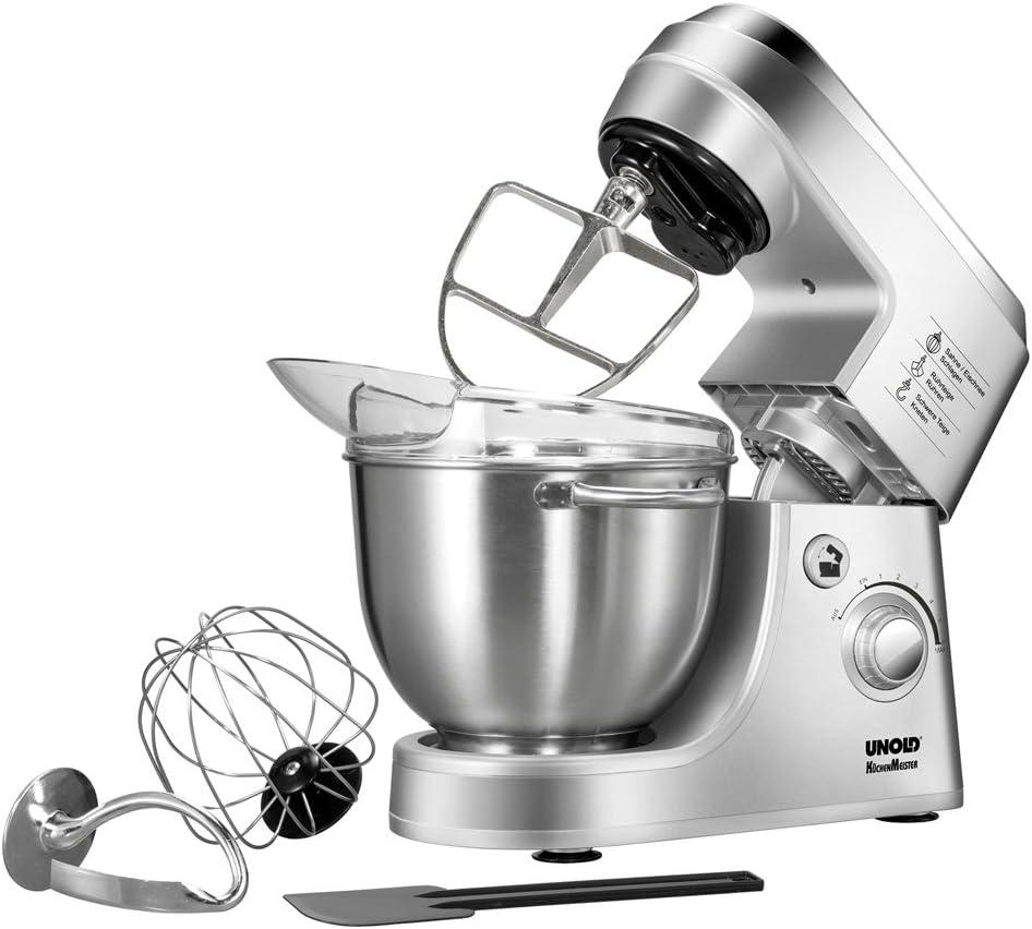 Unold KÜCHENMEISTER Robot de cocina, 350 W, 4 litros, Acero ...