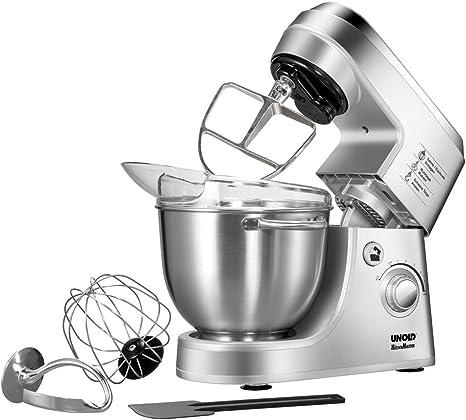 Unold KÜCHENMEISTER Robot de cocina, 350 W, 4 litros, Acero Inoxidable, Gris metálico: Unold: Amazon.es: Hogar