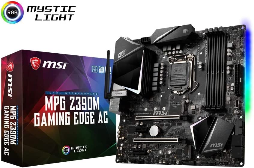 MSI MPG Intel Z390 Edge AC Gaming Micro ATX DDR4-SDRAM Motherboard