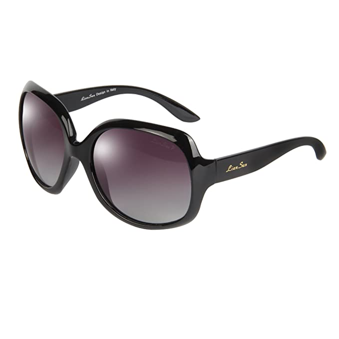 d025cc79b4 LianSan Oversized Women s Uv400 Protection Polarized Sunglasses Simple  Sunglasses Lsp3113 (polarized black 3113)