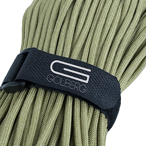 GOLBERG G MIL-SPEC-C-5040-H Authentic Mil-Spec 550 Paracord - 550 lb Type III 7 Strand 5/32 Parachute Rope - 100% Nylon Made in USA Golberg Military Survival Rope Cord ()