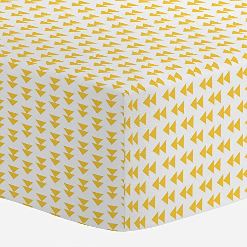Carousel Designs Saffron Aztec Arrow Crib Sheet - Organic 100% Cotton Fitted Crib Sheet - Made in the USA by Carousel Designs