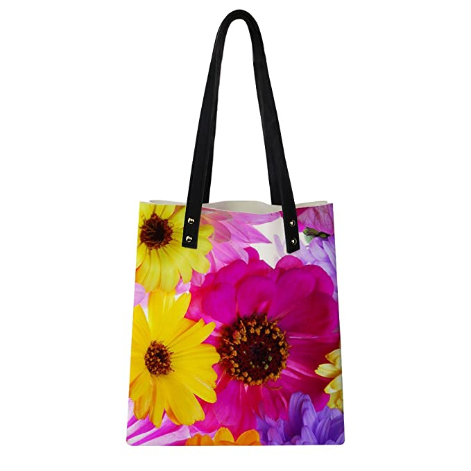 f884ab85dc7b Image Unavailable. Image not available for. Color  Amzbeauty Floral Handbags  for Women Teen Girls ...