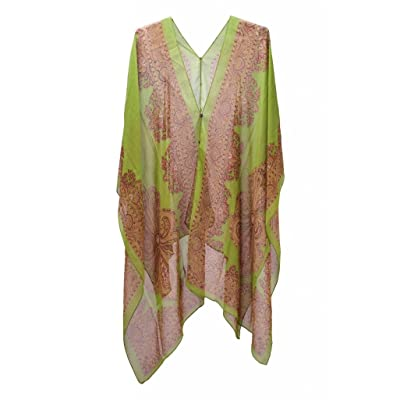 BenThai Products BTPx Women's Batwing Sleeve Chiffon Swimwear Cover Up O/S Green at Amazon Women's Clothing store