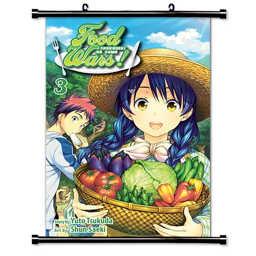"Shokugeki no Soma poster wall decor photo print 24x24/"" inches Food Wars!"