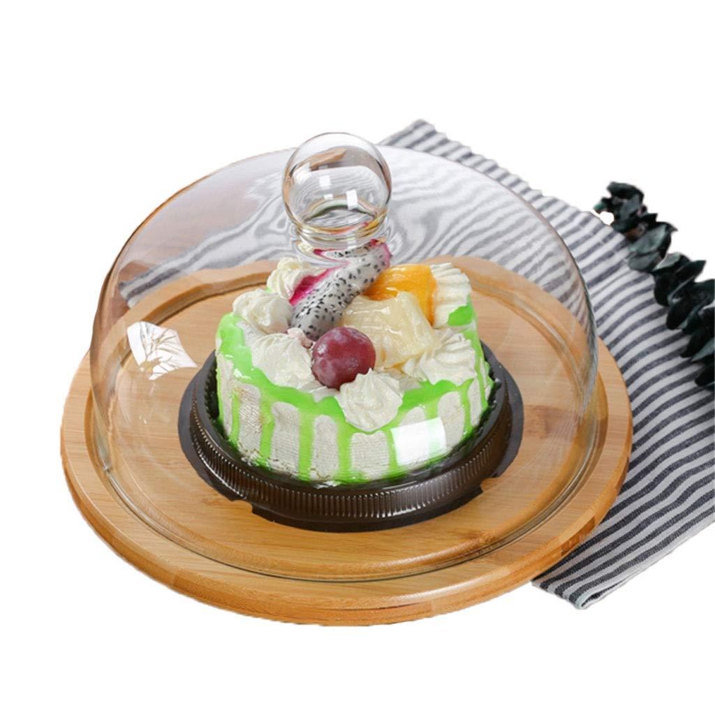 KJinZ ケーキドーム、多機能会議室ドーム木製プレートピザブレッドプレートサラダフルーツドームチーズサンドイッチプレート (サイズ さいず : 33センチメートル) 33センチメートル  B07PZWTPQL