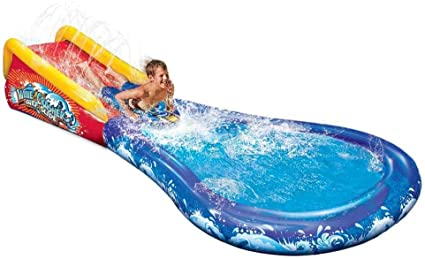 Amazon.com: Tobogán de agua y piscina inflable Wave ...