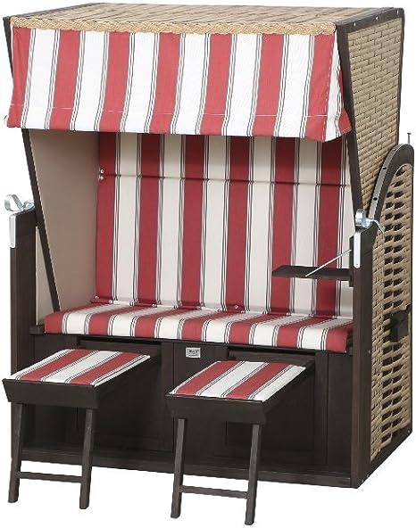 SunnySmart 222324269h Playa Cesta Compact Funda Rayas Trenzado PE Beige, plástico 426, Multicolor: Amazon.es: Jardín