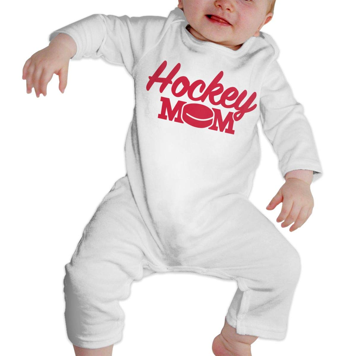 A1BY-5US Newborn Baby Boys Girls Cotton Long Sleeve Hockey Mom Baby Clothes One-Piece Romper Clothes