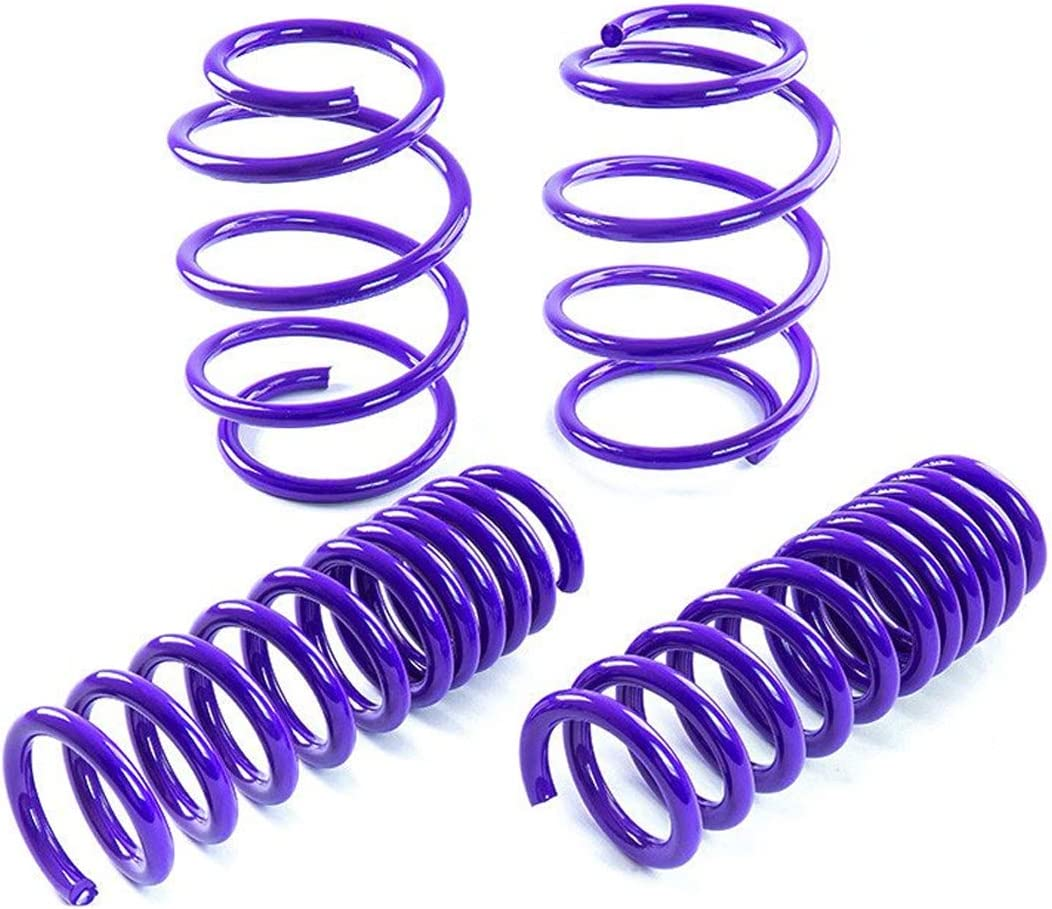 V8 Engine Only Suspension Lowering Spring Blue Fit 2010-2015 Chevy Camaro Front -1.0 inch//Rear -1.0 inch Drop