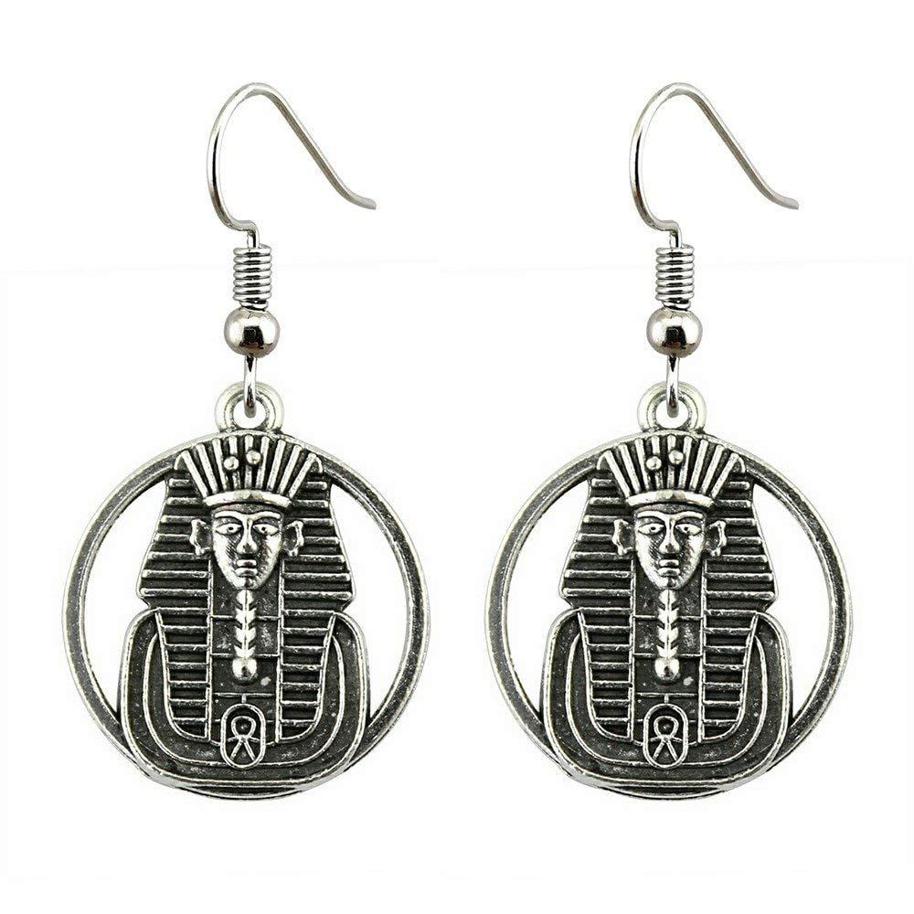 Taliyah 1 Pair Egyptian Pharaoh Drop Earrings for Girls with Earring Backs Stopper
