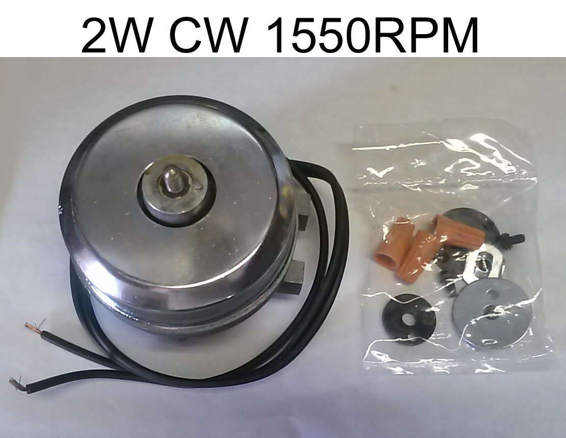 WR60X179 REFRIGERATOR CONDENSER FAN MOTOR REPLACEMENT - 2W CW 1550RPM - REPLACES MANY BRAND MOTORS AT MORE AFFORDABLE PRICE