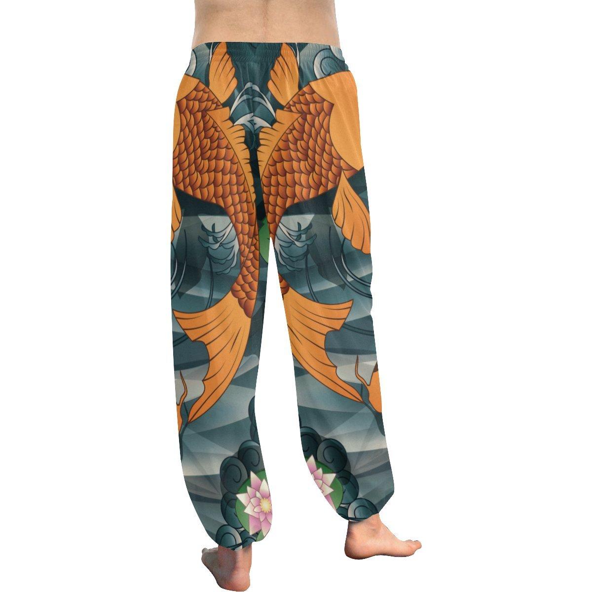 Lumos3DPrint Japanese Koi Fish Womens Yoga Harem Pants at ...