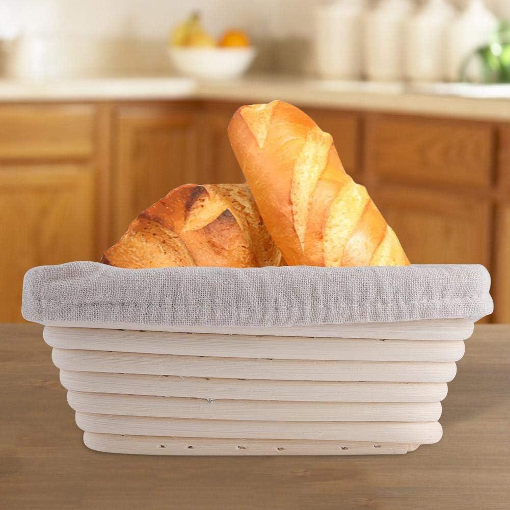Basket TOPINCN Brotkorb Handgefertigte Rattan Korb Dreieck Rattan Sch/üssel Baguette Handgemachte Brotk/örbe Einfache Reinigung Zwei Gr/ö/ßen