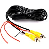 RCA Video CableChuanganzhuo CAZBC13 CAR Reverse Rear View Parking Camera Video Extension Cable With Detection Wire (6…