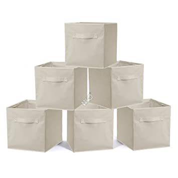 53a2b164fe37 BRIAN & DANY Storage Cubes Pack of 6 Non-woven fabric Fabric ...
