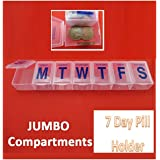 7 DAY LARGE PILL BOX HOLDER Tablet Container Organizer Dispenser Storage Vitamin