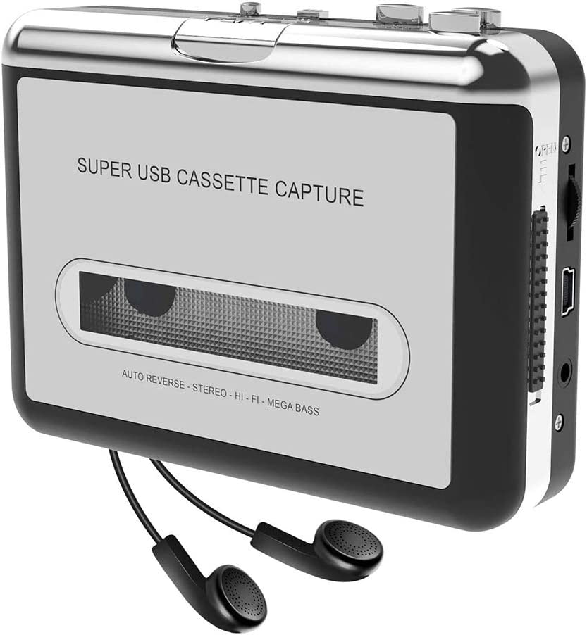 Docooler USB Convertidor Cinta a MP3 and Cassette Player,convierte los cassettes de audio a los cassettes de MP3 digitales para grabar en MP3 o Windows