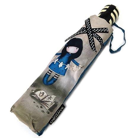 El paraguas automático Gorjuss Santorogris azul ...