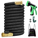 100 foot hot water hose - 100FT Expandable Garden Hose Stronger Double-Layer Natural latex Inner Tube Prevent Leaking Strongest Expandable 3/4