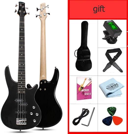 ZJJXD Bajo, Guitarra Eléctrica De 4 Cuerdas, Entrada para ...