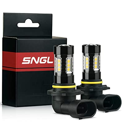 SNGL Super Bright High Power H10 (9145, 9140) LED Bulbs for Fog Lights - Plug-and-Play - 3000K Gold Yellow (Pack of 2): Automotive