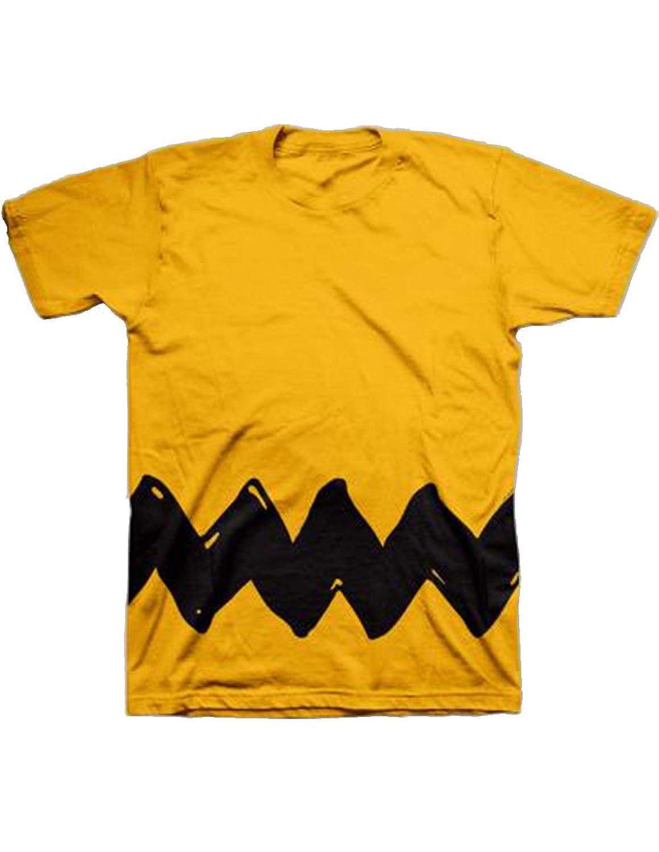 Amazon.com: Peanuts Charlie Brown Hand-drawn zig-zag t-shirt: Clothing