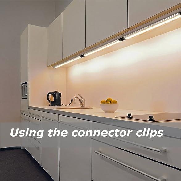 Amazon.com: Ustellar LED Under Cabinet Lighting 6 Panel Kit, 12in ...