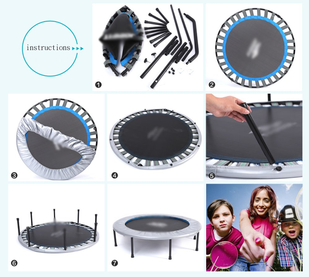 Wly&Home Folding Household Adult Trampoline