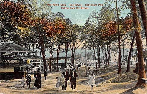 New Haven Connecticut Light House Point Amusement Park Vintage Postcard AA1752