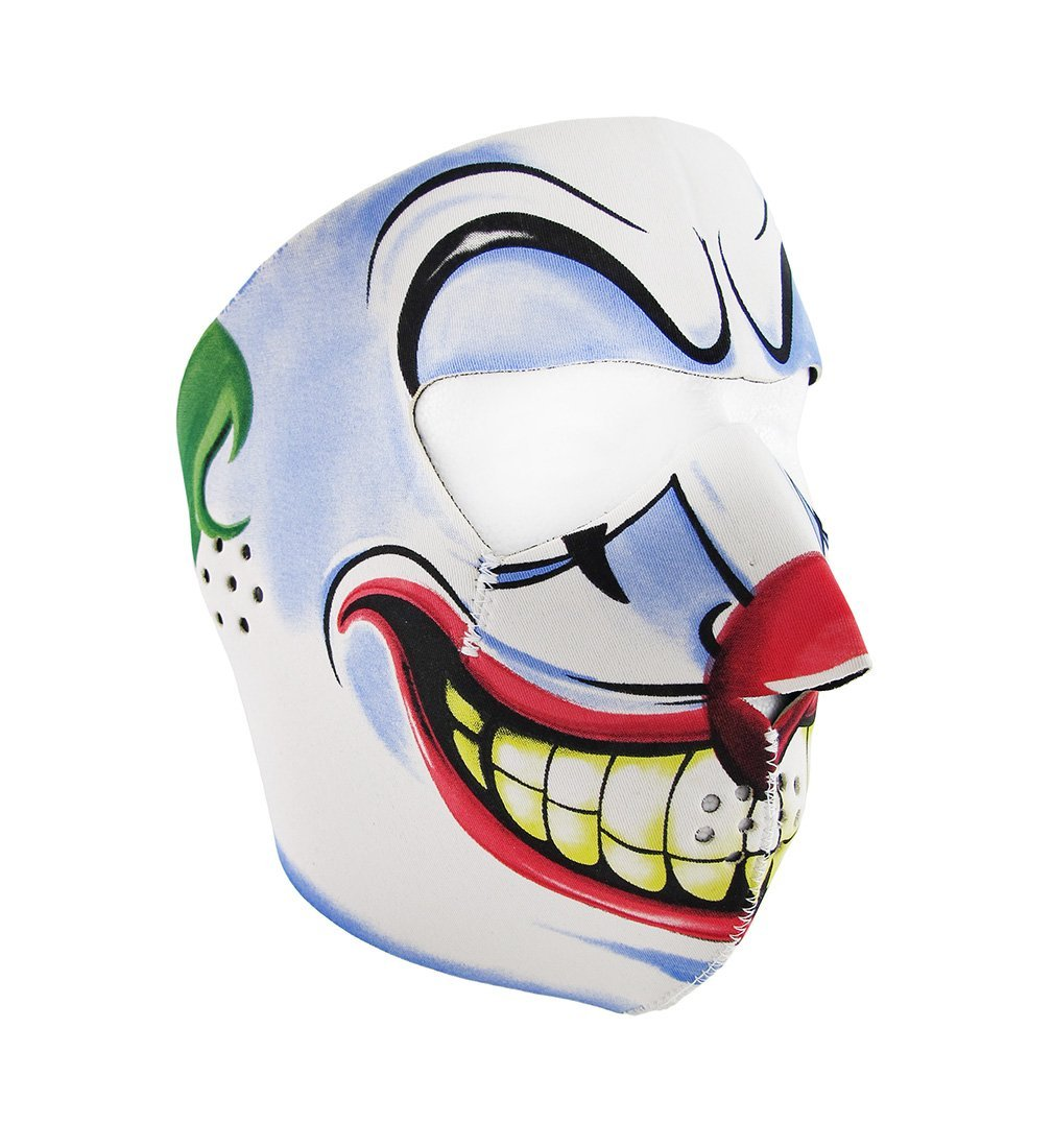Clown Joker Face Neoprene Motorcycle Face Mask Facemask …