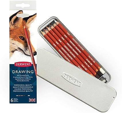 Scatola Metallo con matite temperino e Matite Colorate Red Range 48 Pastelli