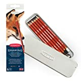 Derwent Drawing Pencils and Accessories, Soft, Metal Tin, 6 Count (0701089), Red