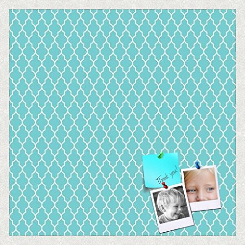 PinPix decorative pin cork bulletin board made from self-healing canvas, Quatrefoil Patterns printed at 24x24...