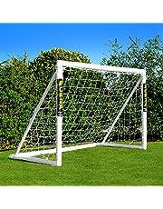 FORZA But de Football PVC pour Le Jardin/Entraînement - Cage de Foot Portable avec Filet & Poteaux Imperméables (6 Tailles)