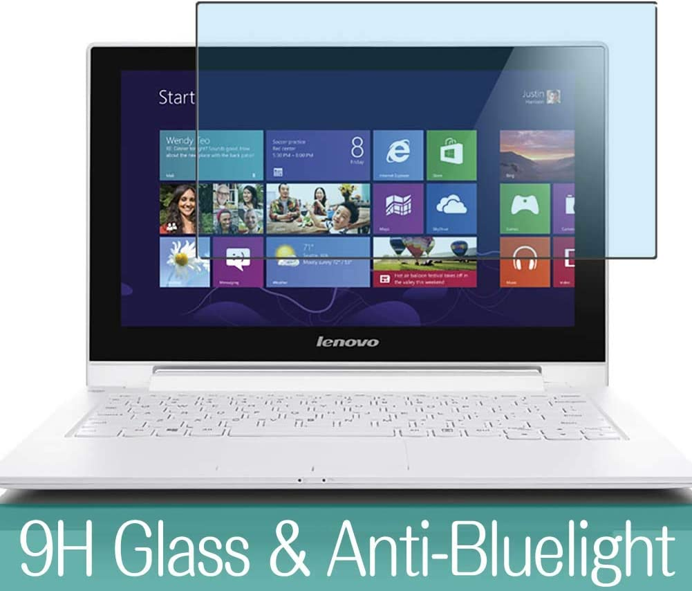 """Synvy Anti Blue Light Tempered Glass Screen Protector for Lenovo ideapad S210 Touch 11.6"""" Visible Area 9H Protective Screen Film Protectors (Not Full Coverage)"""