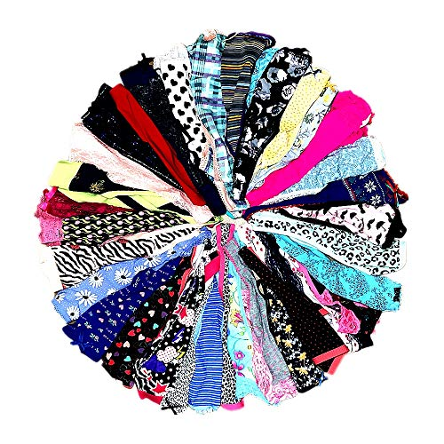 DIRCHO Women Underwear Variety of Panties Pack Lacy Thongs G-Strings Cotton Briefs Hipsters Bikinis Undies (20 Pcs, Small)