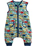 Vaenait baby Kids Boys Double-Layered Cotton Wearable Blanket Sleeper Sleep Travel L