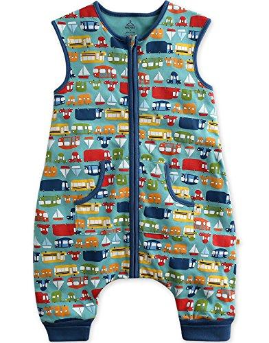 Vaenait Baby Toddler Kids 1-7Y Double-Layered Cotton Wearable Blanket Sleeper Sleep Travel M