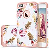#10: iPhone 7 Plus Case,iPhone 8 Plus Case Pineapple,Fingic Floral Pineapple Ultra Slim Case Hard PC Soft Rubber Anti-Scratch ShockProof Protective Case Cover for iPhone 7/8 Plus,Flower Pineapple/Rose Gold