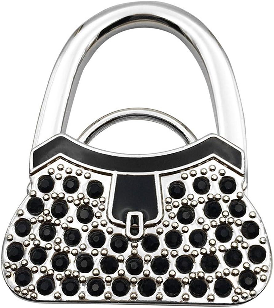 Grtdrm Lock-Handbag Style Premium Foldable Handbag Bag Purse Hanger Table Hook Holder