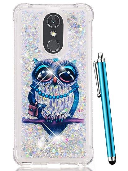 Caiyunl Case For Lg Stylo 4 Case Lg Q Stylus Case Glitter Bling Liquid Sparkle Shiny Clear Tpu Quicksand Design Protective Phone Case Cute Women Men