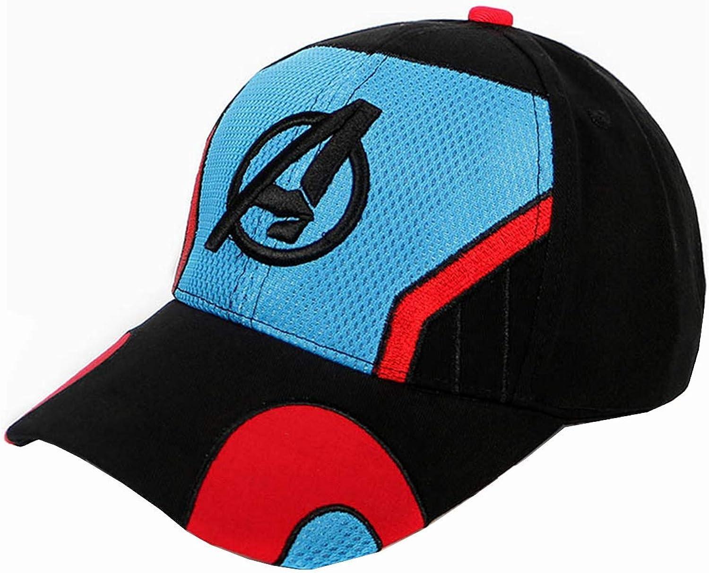 sanyicos Embroidery Baseball Cap Outdoor Avengers 4 Hat Endgame Quantum Black