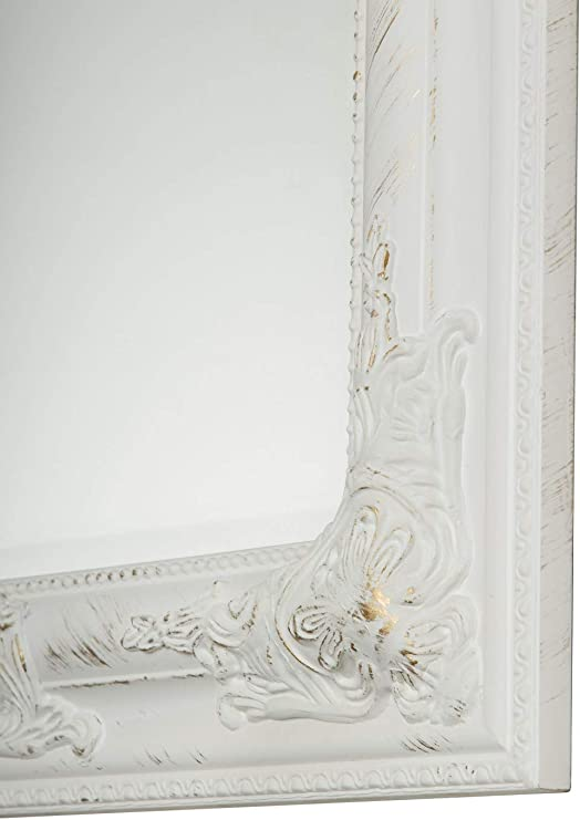 62 x 52 cm bianco in legno elbm/öbel.de Specchio da parete stile barocco