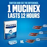 Chest Congestion, Mucinex Expectorant 12 Hour Extended Release Tablets, 100ct, 600 mg Guaifenesin with Extended Relief of Chest Congestion Caused by Excess Mucus. Thins and Loosens Mucus