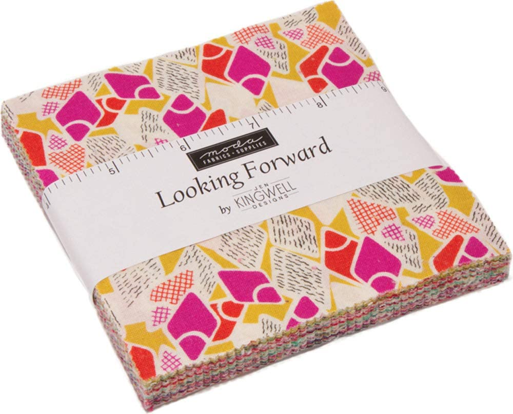 Looking Forward Charm Pack by Jen Kingwell; 42-5 Inch Precut Fabric Quilt Squares