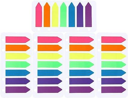 Couleurs Mixes 560PCS Onglets Adhésifs dIndex Autocollantes Signets Cr/éatifs Marqueurs Adh/ésifs /Étiquettes Multicolore Papeterie Fournitures Scolaires pour Lecture Livres Dossiers